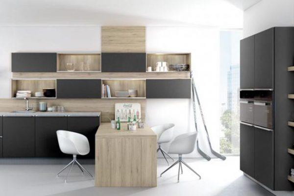 Häcker Küche Systemat/ART 6000 Schwarz Mattlack | Miele Center Höpperger Küchen Innsbruck | Küchen Tirol