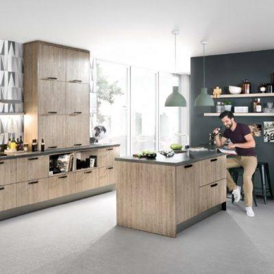 Häcker Küchen Classic Bali, Eiche-seidengrau | Miele Center Höpperger Küchen Innsbruck | Küchen Tirol