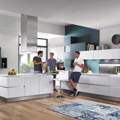 Häcker Küchen Classic Bali GL Laser Soft Eiche | Miele Center Höpperger Küchen Innsbruck | Küchen Tirol