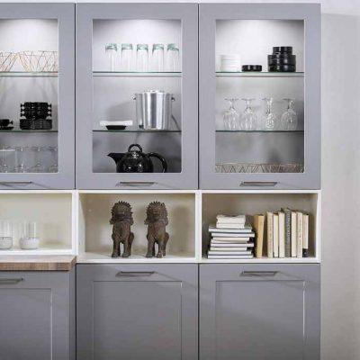 Häcker Küchen Lotus Perlgrau Classic Designküche | Miele Center Höpperger Küchen Innsbruck | Küchen Tirol
