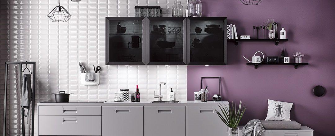 Häcker Küche Perlgrau mit Metall und Glas | Miele Center Höpperger Innsbruck
