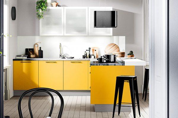 Häcker Küche Uno Goldgelb | Miele Center Höpperger Innsbruck