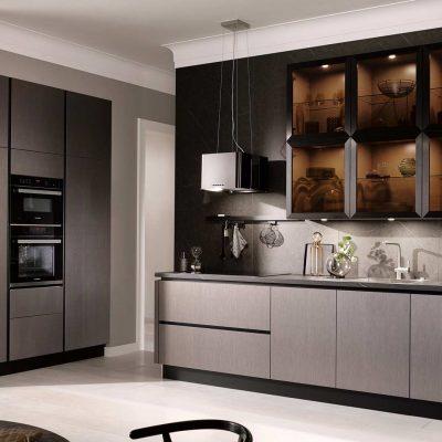 Küchentrends 2020 Häcker Metallic Optik und Haptik im Miele Center Höpperger