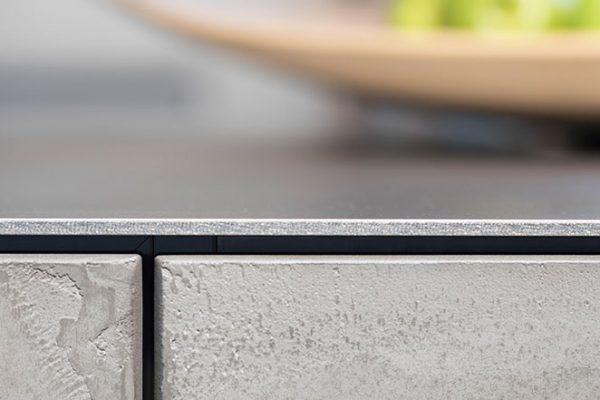 Warendorf Küche Concrete mit Edelstahl-Arbeitsplatte